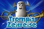 """Logo der Internetseite """"Zeitreise mit Trompi""""."""