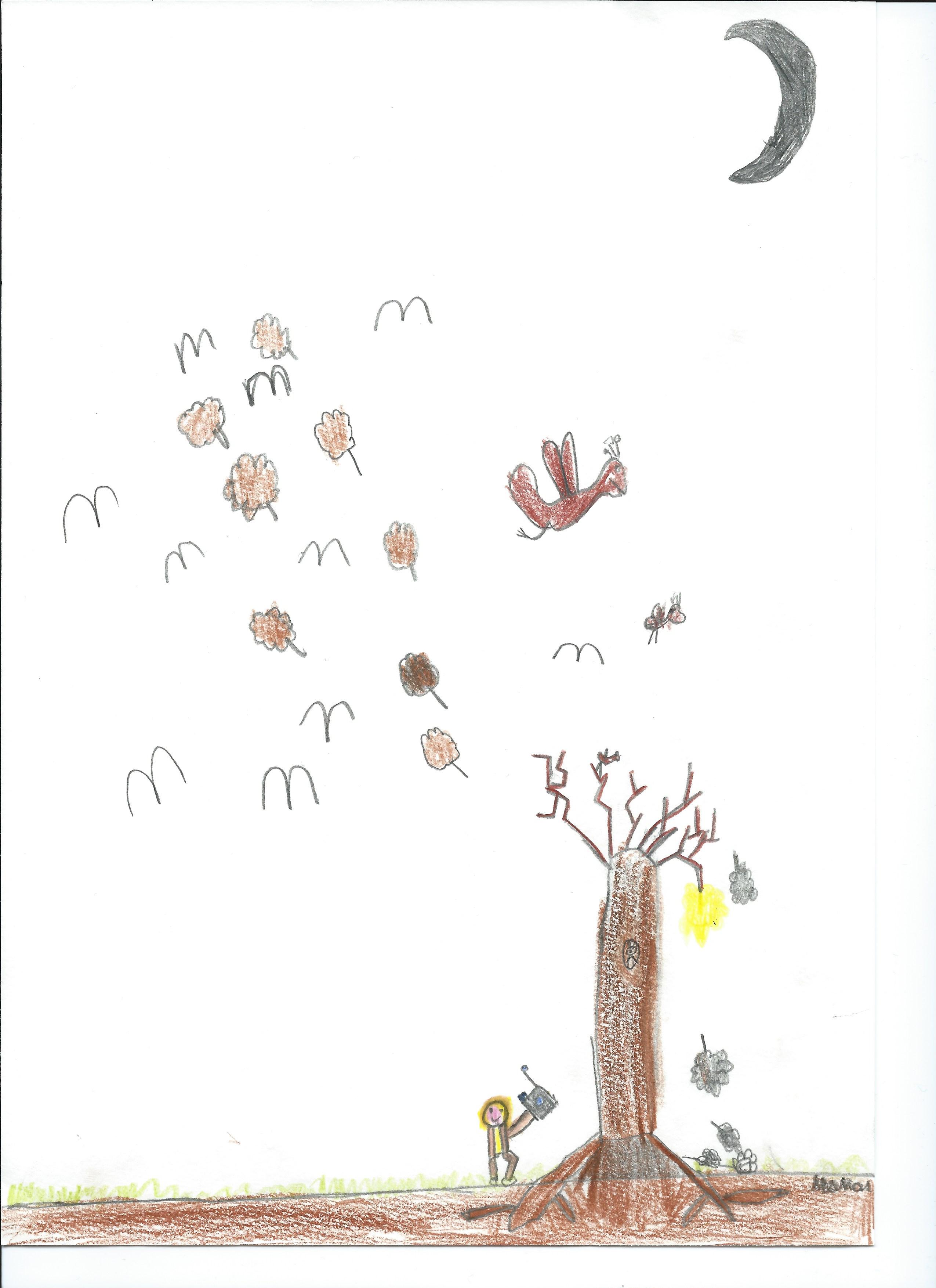 Die Ziege Und Der Baum